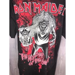 Hanes Shirts - IRON MAIDEN Graphic Tee The Number of the Beast